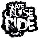 Sticker Skate Cruise Ride Blanc