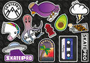 SkatePro V3 Sticker Sheet