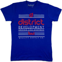 District Supply Co Destroy Camiseta Azul