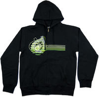 District Supply Co Neon Zip Hoodie