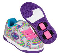 Heelys Dual Up Silver/Rainbow Shoes With Wheels