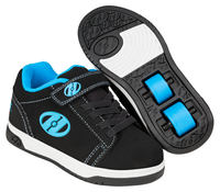 Heelys Dual Up X2 Black/Cyan Shoes With Wheels