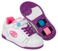 Heelys Dual Up X2 White/Purple Shoes With Wheels