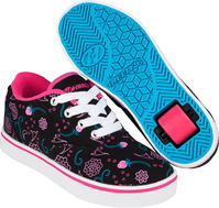 Heelys Launch Black/Pink Shoes With Wheels
