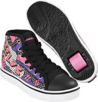 Heelys Veloz Black/White/Pink/Comic Shoes With Wheels