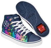Heelys Veloz Denim/Rainbow Shoes With Wheels