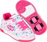 Heelys X2 Dual Up Blanco/Pink Zapatillas Con Ruedas