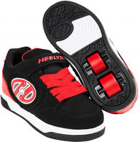 Heelys X2 Plus Lighted Black/Red Shoes With Wheels