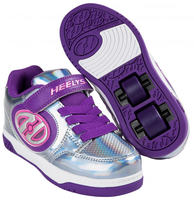 Heelys X2 Plus Lighted Silver/Lila/Chockrosa Rullskor