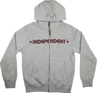 Independent Bar Cross Zip Huppari