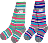 K2 All Mountain Junior Ski Socks 2-Pack