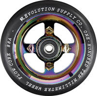 Revolution Supply Flow Black PU Pro Scooter Wheel Complete
