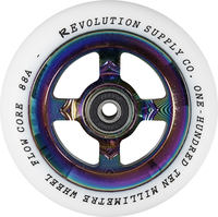 Revolution Supply Flow White PU Stunt Scooter Rolle