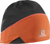 Salomon S-Lab Light Black Orange Ski Beanie
