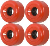 SFR Slick Roller skate Wheels, 62mm, 76A, 4-Pack