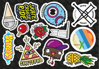 SkatePro Sticker Feuille
