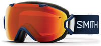Smith I/OS Navy Floral ChromaPop Everyday Red Ski Goggles
