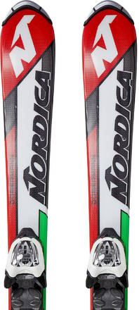 Nordica Team J Race Alpinski Barn + M 4.5 Fastrak Bindinger