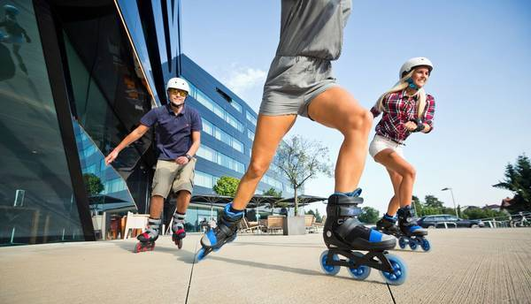 835458b19eb ... get incredible weaving and turns of freestyle skaters. The K2 Trio 100  comes in a Blue color which you can find here, and also in a sweet red and  grey ...