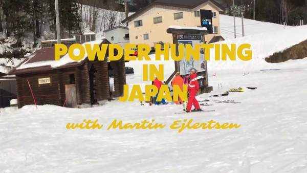 Martin is on the hunt for powder snow in Japan
